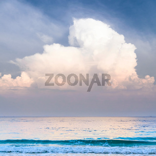 cloudy seascape
