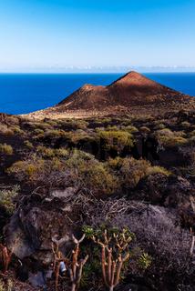 Volcano cinder cone in the Island of La Palma