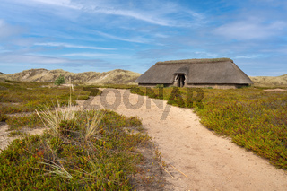 Traditional house within the dunes, Amrum, Germany