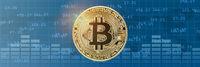 Bitcoin Krypto Währung online bezahlen digital Geld Kryptowährung Wirtschaft Finanzen Banner Textfreiraum Copyspace