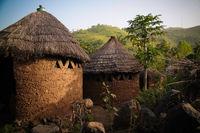 Traditional Losso aka Nawdba people village in Doufelgou, Kara region, Togo