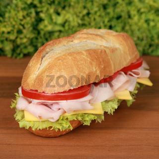 Sandwich belegt mit Schinken