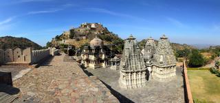 panorama of kumbhalgarh fort in india