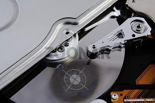 Festplatte mit Fingerabdruck