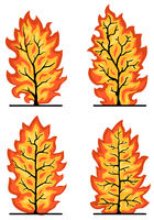 Burning Trees Design Element Set