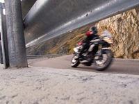 motobike in a curve