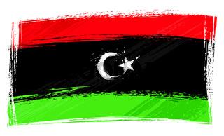Grunge Libya flag