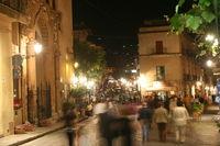 Cefalu night scene Italy