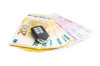 Euro banknotes and wireless car key