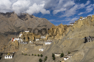 Dhankar Gompa is a village and also a Gompa, a Buddhist temple in the district of Lahaul, Spiti, Himachal Pradesh, India