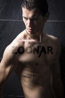 A Man under Shower