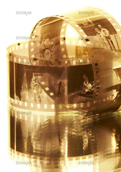 Old black-white photofilm. A negative 35mm.