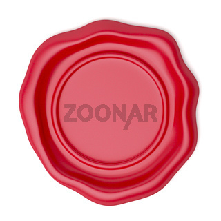 Red wax seal, top view