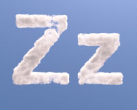Letter Z cloud shape