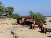 Remains of mining in the dunes of Piscinas