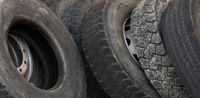 Old tires from truck