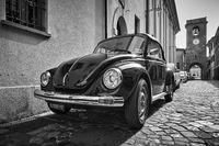 Vintage car Volkswagen Beetle 1303 Cabriolet
