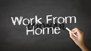Work From Home Chalk Illustration