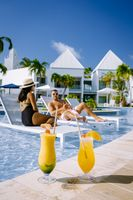 couple on a luxury vacation at the dutch Island in the Caribbean Aruba