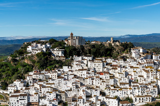view of the idyllic Andalusian village of Casares