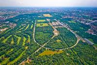 Monza race circut aerial view near Milano