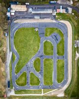 Drone View of Go Cart Race Track