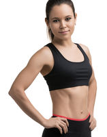 Young fitness model cropped isolated shot