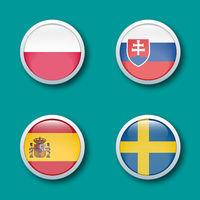 bouton drapeau groupe E euro 2021