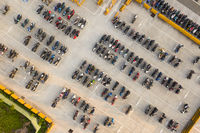 aerial view motorcycles