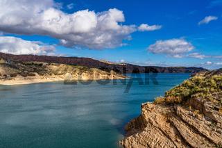 Embalse de Negratin reservoir lake in Sierra Nevada National Park in Spain
