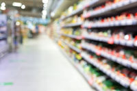 Abstract blur in a superstore for background