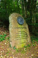 Memorial stone to Martin Luther on the premium hiking trail