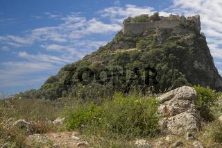 Die Burg Angelokastro auf Korfu, Griechenland