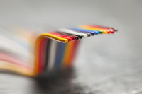 A piece of ribbon cable ipe effect