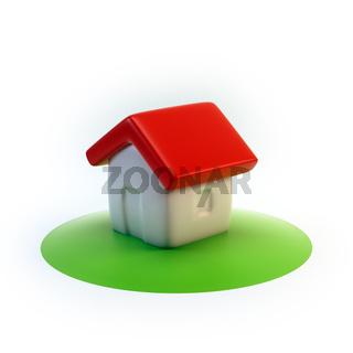 cartoon 3D house icon