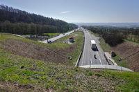 motorway A81 at the Schönbuchtunnel near Herrenberg, Baden Württemberg