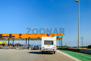rv at toll booth