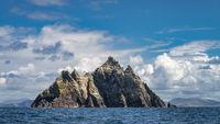 Heaped mountain peaks of Little Skellig island, habitat of Gannets