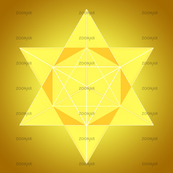 Merkaba aus Licht - Gelb