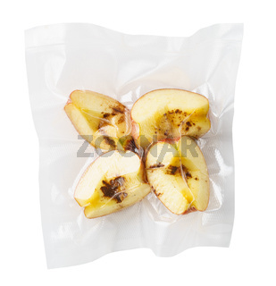 Vacuum sealed apples