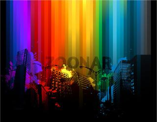 Colorful urban design