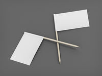 Two toothpick flags