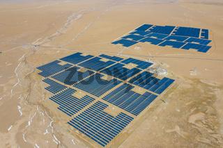 solar power station scene at northern tibetan plateau