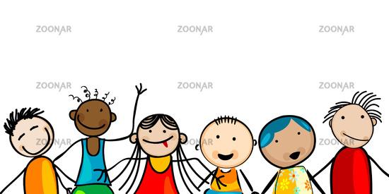 Smiling faces kids