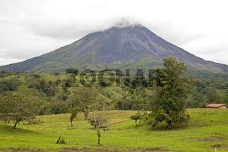 der Vulkan Arenal beim Ort La Fortuna