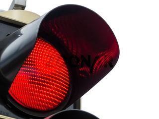 Rotes Licht bei Verkehrsampel