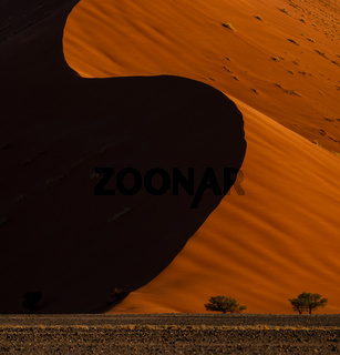 The red dunes of sossusvlei national park in namibia