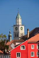 Der Kirchturm des Münster in Überlingen am Bodensee