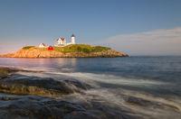 Lighthouse Cape Neddick Light, Nubble Light, York, Maine, New England, USA