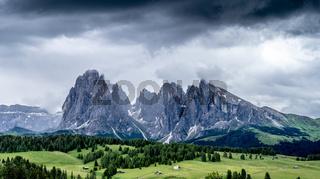 Typical mountain scene in Italian Alps, Dolomites